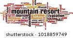 mountain resort word cloud... | Shutterstock .eps vector #1018859749