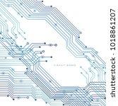 circuit board  technology... | Shutterstock .eps vector #1018861207