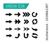 arrow icon vector editable... | Shutterstock .eps vector #1018861387
