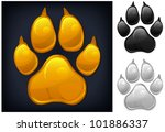 Yellow Animal Paw Print...