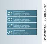 infographic banner design set.... | Shutterstock .eps vector #1018866784