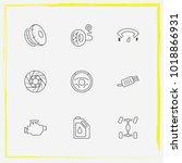 auto parts line icon set... | Shutterstock .eps vector #1018866931