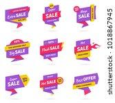 sale banners design templates...   Shutterstock .eps vector #1018867945