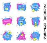 sale banners design templates... | Shutterstock .eps vector #1018867951