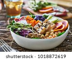 Colorful Buddha Bowl With...