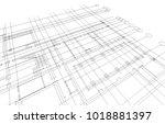 architecture building design   Shutterstock . vector #1018881397