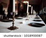 fancy place setting | Shutterstock . vector #1018900087
