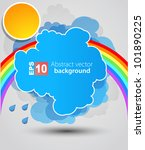 rainbow background | Shutterstock .eps vector #101890225