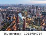 istanbul  turkey. aerial view...   Shutterstock . vector #1018904719