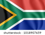 flag of south africa. realistic ... | Shutterstock .eps vector #1018907659