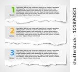 torn paper progress option...   Shutterstock .eps vector #101890831