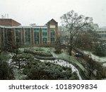 Photo of the Georgia Tech buildings, Atlanta, GA, USA during the snow storm in December, 2017