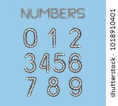 nautical rope font. light... | Shutterstock .eps vector #1018910401