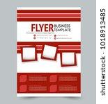 a4 size flyer template.... | Shutterstock .eps vector #1018913485