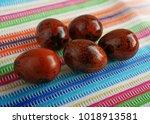 easter eggs  in the basket for... | Shutterstock . vector #1018913581