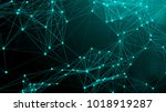 abstract connection dots.... | Shutterstock . vector #1018919287