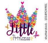 little princess illustration...   Shutterstock .eps vector #1018924981