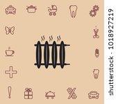 radiator heater icon | Shutterstock .eps vector #1018927219