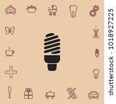 fluorescent light bulb vector... | Shutterstock .eps vector #1018927225