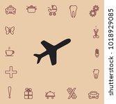 airplane icon  vector design | Shutterstock .eps vector #1018929085