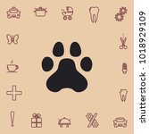 paw icon  vector design element | Shutterstock .eps vector #1018929109