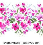 Seamless Floral Border Magnificent Bright - Fine Art prints