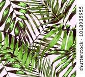 watercolor seamless pattern... | Shutterstock .eps vector #1018935955