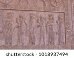 bas relief carvings of... | Shutterstock . vector #1018937494
