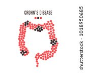 crohn's disease awareness... | Shutterstock .eps vector #1018950685