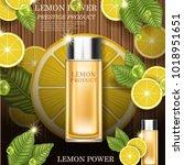 lemon power. quality... | Shutterstock .eps vector #1018951651