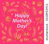 happy mother's day greeting...   Shutterstock .eps vector #1018952911