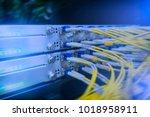 fiber optical connector... | Shutterstock . vector #1018958911