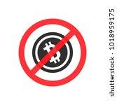bitcoin is prohibited. vector... | Shutterstock .eps vector #1018959175