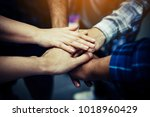 team work concept. business... | Shutterstock . vector #1018960429