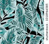 watercolor seamless pattern...   Shutterstock .eps vector #1018966585