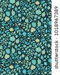 seamless vector floral pattern | Shutterstock .eps vector #1018967389