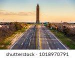 the jones beach water tower at... | Shutterstock . vector #1018970791