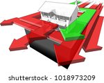 3d illustration of classic... | Shutterstock . vector #1018973209
