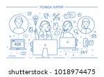 friendly men and women wearing... | Shutterstock .eps vector #1018974475