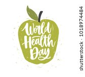 World Health Day Lettering...