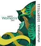 happy women's day. 8 march....   Shutterstock .eps vector #1018975111