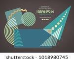 abstract geometric modern... | Shutterstock .eps vector #1018980745