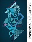 abstract geometric modern... | Shutterstock .eps vector #1018980751
