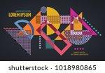 abstract geometric modern... | Shutterstock .eps vector #1018980865