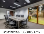 abstract background of offices... | Shutterstock . vector #1018981747