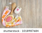 soap and hygiene items. view... | Shutterstock . vector #1018987684