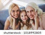 little cute girl  her...   Shutterstock . vector #1018992805