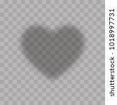 transparent heart on a... | Shutterstock .eps vector #1018997731