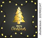 merry christmas design | Shutterstock .eps vector #1019002147