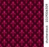 royal heraldic lilies  fleur de ...   Shutterstock .eps vector #1019006509